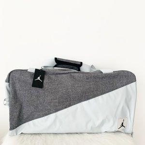 NIKE Jordan Duffel Bag Travel Bag Duffle Grey